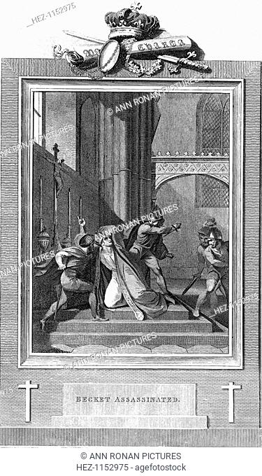 The murder of Thomas a Becket, 1170 (1825). Archbishop of Canterbury from 1162, Becket clashed almost incessantly with King Henry II over the question of the...