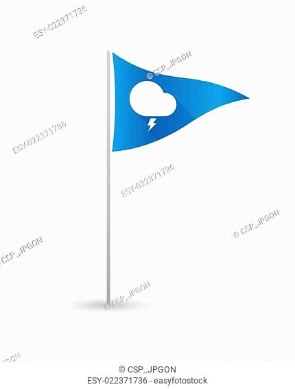 Golf flag with a stormy cloud