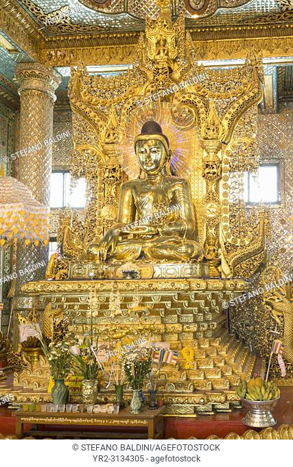 Nan Oo Buddha hall at Botataung pagoda, Rangoon, Myanmar