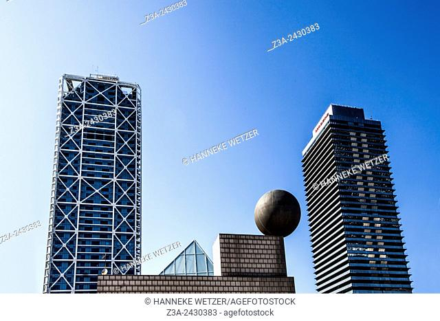 Mapfre tower and Hotel Arts, Barcelona. Catalonia, Spain