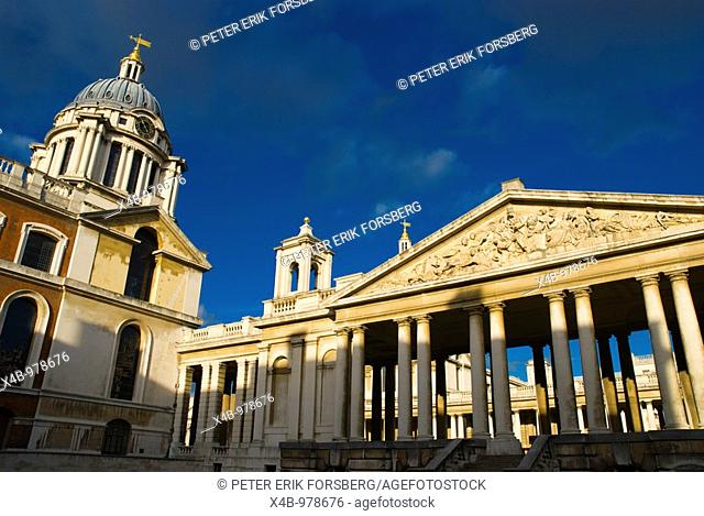 The Painted Hall and University of Greenwich building London England UK Europe
