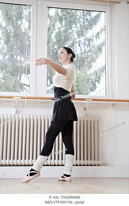 Ballet dancer at a rehearsal