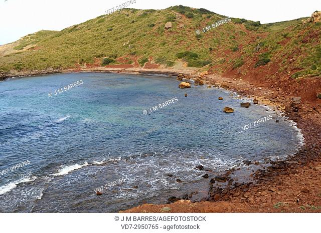 Cala Farragut, Es Mercadal. Minorca Biosphere Reserve, Balearic Islands, Spain