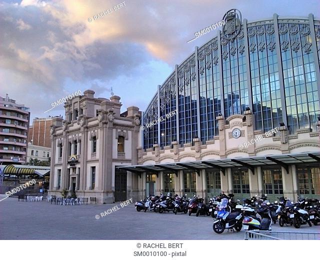 Centre Esportiu Municipal Estacio del Nord in former North Railway Station Barcelona Catalonia Spain