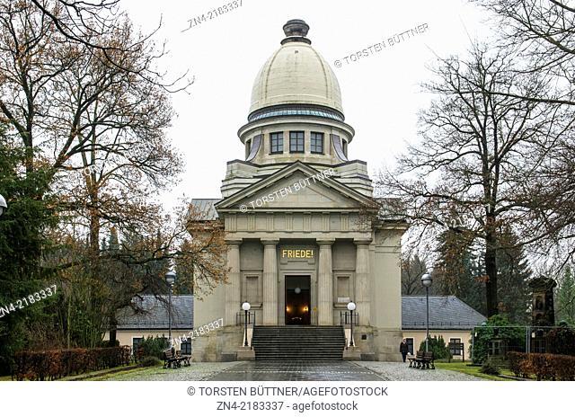 Crematory of the Main Cemeterey of Chemnitz in Saxony, Germany