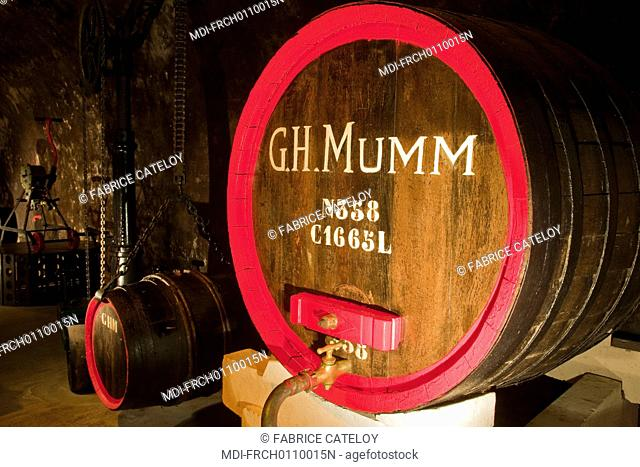 France - Champagne - Reims - G.H. Mumm's cellars