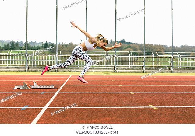 Athlete woman on the run