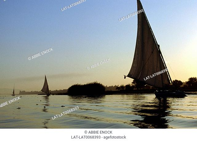 The Nile supports much of the population living along its banks,is used to transport goods and is a regular tourist route
