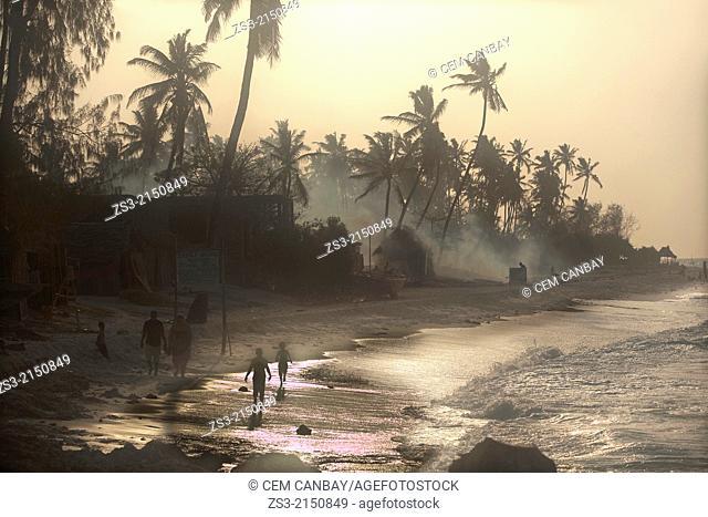 Scene from the Nungwi beach at sunset, Nungwi, Zanzibar Island, Zanzibar Archipelago,Tanzania, East Africa