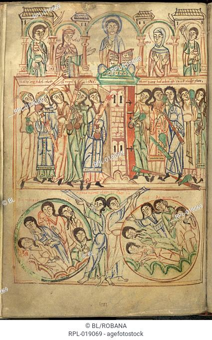 The Last Judgement. Image taken from Speculum Virginum. Originally published/produced in Germany Hirsau or Freising, 1140-1145