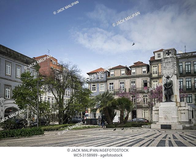 praca carlos alberto square in old town central porto portugal