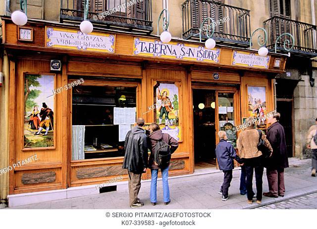 Taberna San Isidro. Madrid. Spain
