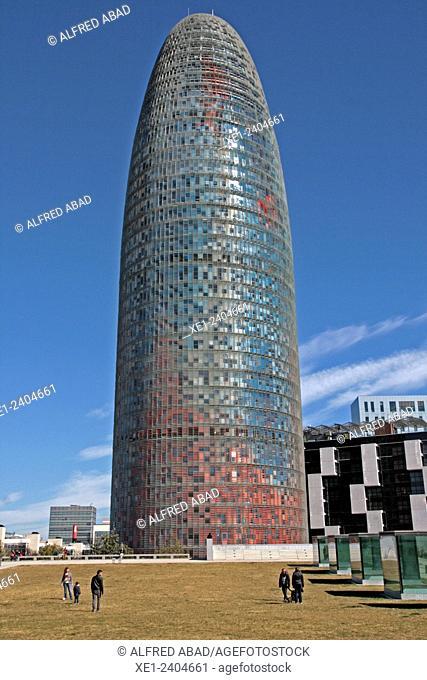 Torre Agbar, Barcelona, Catalonia, Spain