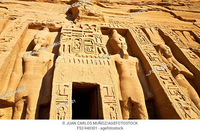 Temple of Hathor. Abu Simbel, Nile Valley. Egypt