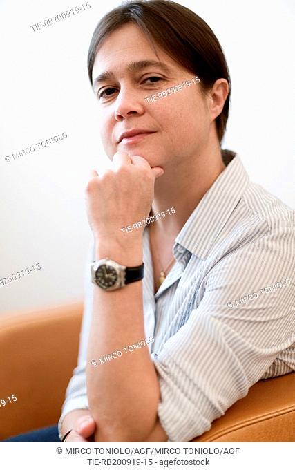 The writer Stephanie Hochet poses for photographers at Literature Festival Pordenonelegge 2019, Pordenone, ITALY-19-09-2019