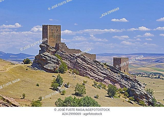 Spain, Guadalajara Province, Zafra Castle