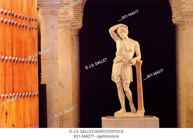 Roman statue in the museum inside the Benameji Palace. Écija. Seville Province. Spain