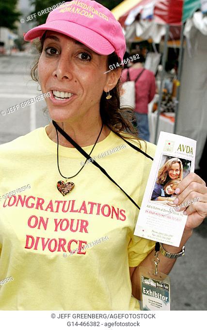 Book Fair International, female author Amy Botwinick, Congratulations On Your Divorce, advice. Miami. Florida. USA