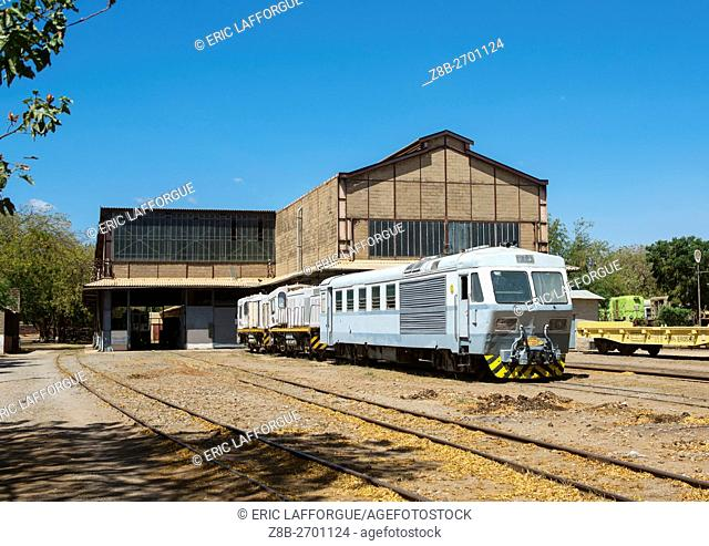 Ethiopia, Dire Dawa Region, Dire Dawa, old train in the station
