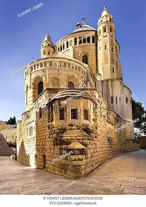 Dormition Abbey, Byzantine Church, Mount Zion, Jerusalem, Israel, Middle East