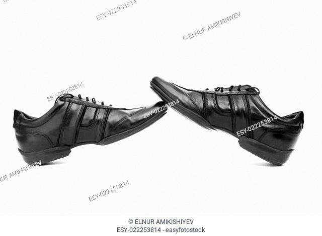 Sport shoes isolated on the white background