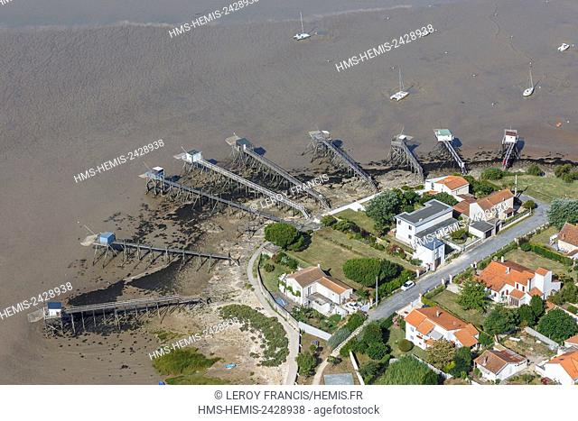 France, Charente Maritime, Fouras, fisheries (aerial view)