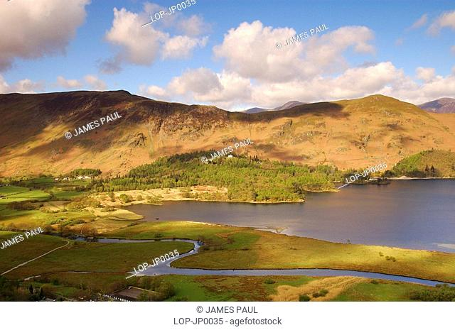 England, Cumbria, Keswick, Views of Derwentwater from Lodore Wood