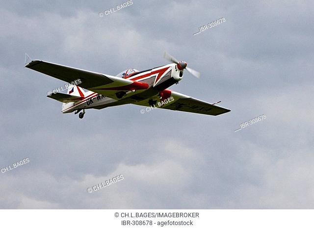Plane for aerobatics, Europe's big vintage aeroplane meeting on the Hahnweide, Kirchheim-Teck, Baden Wuerttemberg, Germany