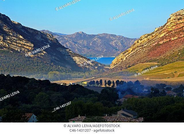 Patrimonio village in the Nebbio region  Cap Corse, Corsica, France