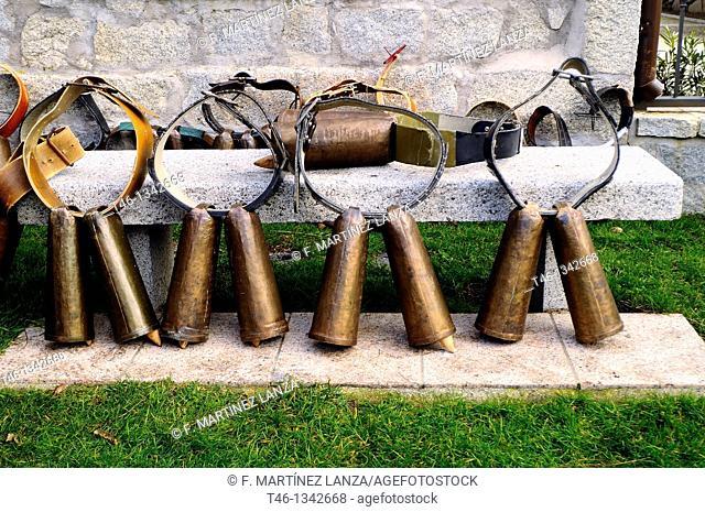 Bells used in the feast of the Heifer in Madrid Fresnedilla de la Oliva