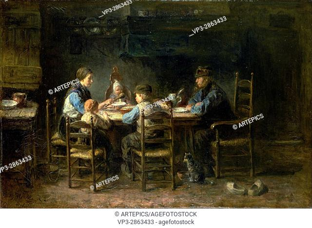 Jozef Israels - Peasant family at the table - Van Gogh Museum, Amsterdam