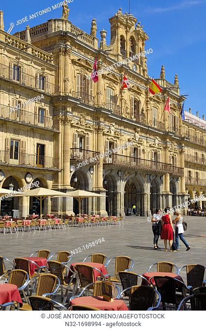 Plaza Mayor (Main Square), Salamanca, Castilla-Leon, Spain