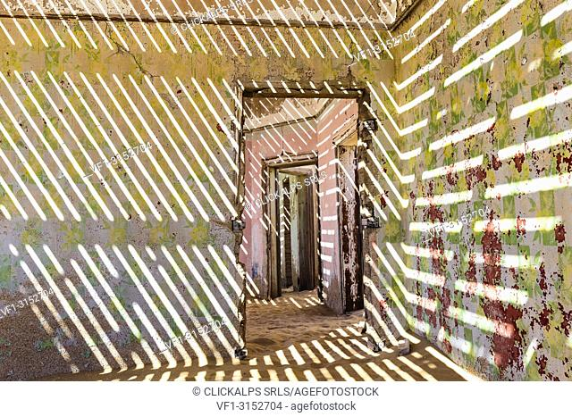 The inside of an abandoned building, Kolmanskop,Luderitz,Namibia,Africa