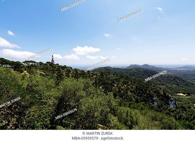 Spain, the Balearic Islands, Island of Mallorca, scenery close Sant Salvador, Felanitx
