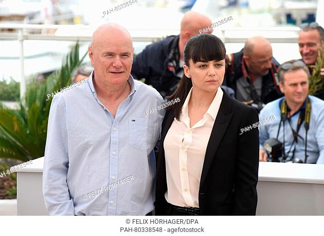 (L-R) British actor Dave Johns and British actress Hayley Squires and pose during the photocall for 'I, Daniel Blake' at the 69th annual Cannes Film Festival