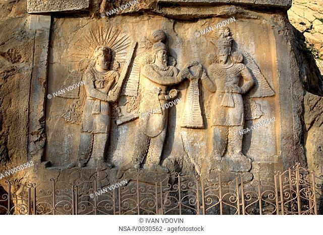 Relief of Shapur II 370, Taq-e Bostan, province Kermanshah, Iran