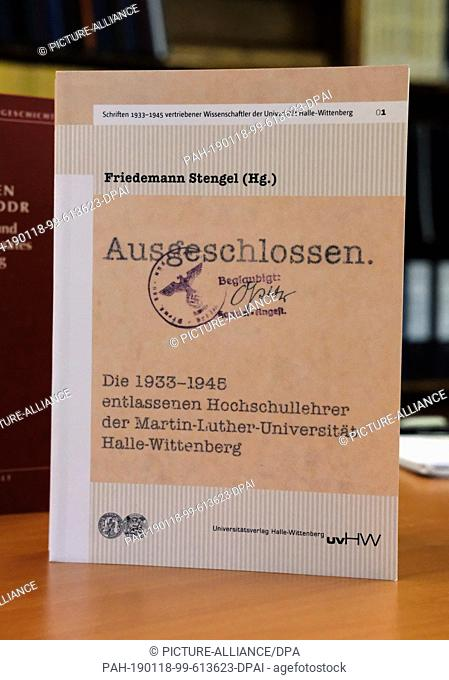 27 November 2018, Saxony-Anhalt, Halle: A work by Friedemann Stengel, professor of theology at the Martin Luther University Halle-Wittenberg