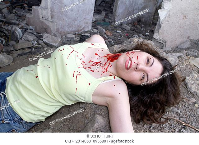 Murder of young woman. MODEL RELEASED, MR (CTK Photo/Jiri Schott)