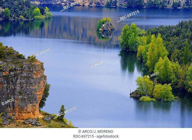 Hoces del Duraton, Duraton river gorges, Hoces del Rio Duraton Natural Park, Sepulveda, Segovia province, Castilla-Leon, Spain