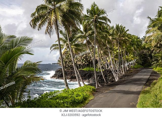 Opihikao, Hawaii - The Pacific coast in the Puna District of the Big Island