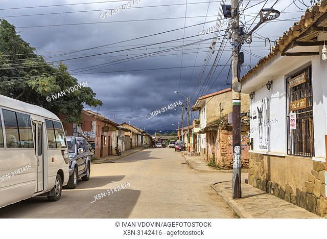 Street in old town, Samaipata, Santa Cruz department, Bolivia