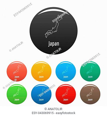 Japan map thin line. Simple illustration of Japan map isolated on white background