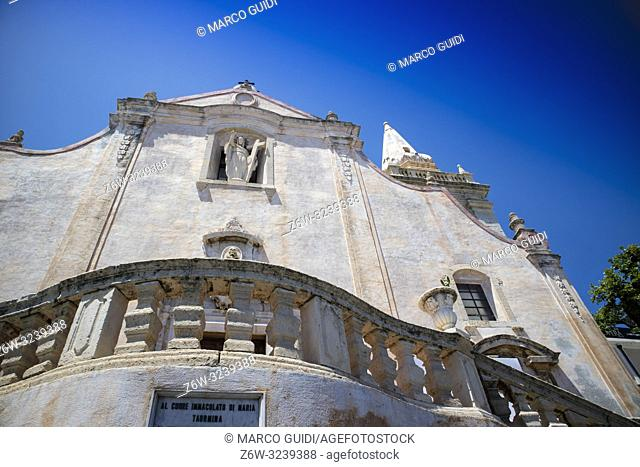 View of the Church of San Giuseppe in Taormina in Sicily