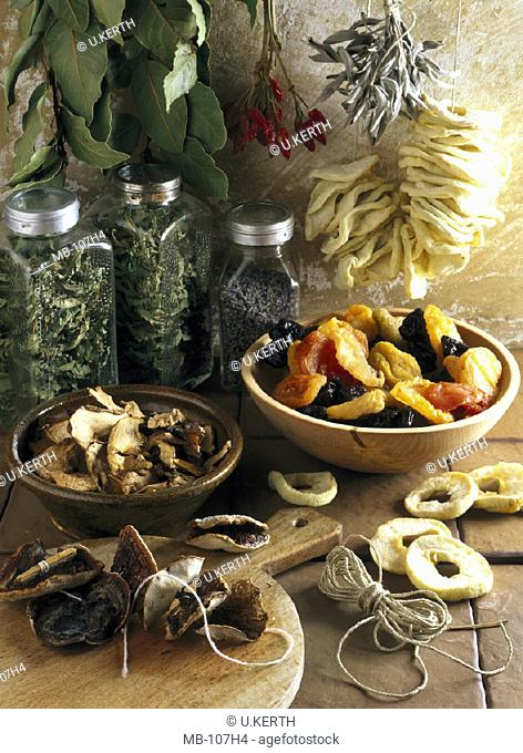 Dried fruit, Herbs, Spices
