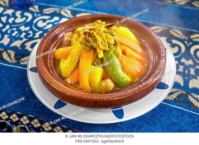 Traditional moroccan dish - tajine. Morocco
