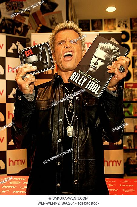 Billy idol meet fan stock photos and images age fotostock billy idol meets fans and signs copies of his new cd and autobiography entitled dancing m4hsunfo