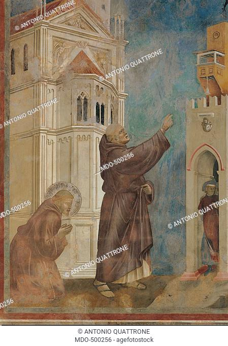 Stories of St Francis St Francis drives the Devils out of Arezzo, by Giotto, 1297 - 1299 about, 13th Century, fresco, cm 273 x 230