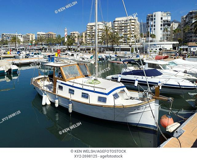 Marbella, Costa del Sol, Malaga Province, Andalusia, southern Spain. Sports Port. Puerto Deportivo. Luxury yachts