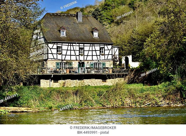 Pyrmonter mill next to Elzbach in Roes, Eifel, Rhineland-Palatinate, Germany