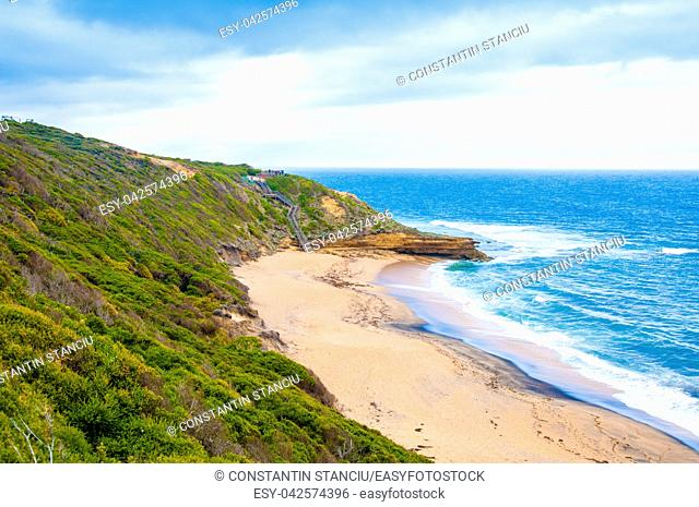 Bells Beach is a coastal locality of Victoria, Australia in Surf Coast Shire and a renowned surf beach, located 100 km south-west of Melbourne